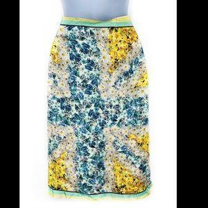 PAUL SMITH Floral Union Jack Silk Wrap Skirt RARE!